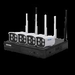 Комплект видеонаблюдения ESCAM WNK403 4CH 720P Wireless NVR KITS EU