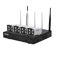 Комплект відеоспостереження ESCAM WNK403 4CH 720P Wireless NVR KITS EU