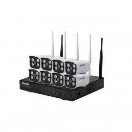 Комплект відеоспостереження ESCAM WNK803 8CH 720P Wireless NVR KITS EU
