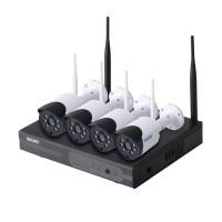 Комплект відеоспостереження ESCAM WNK404 4CH 720P Wireless NVR KITS EU
