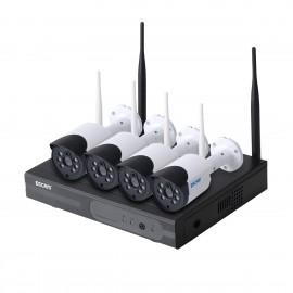 Комплект видеонаблюдения ESCAM WNK404 4CH 720P Wireless NVR KITS EU фото - купить