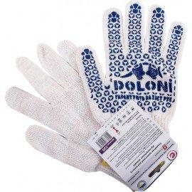 Перчатки трикотажные с ПВХ точкой упрочненные (00240) фото - купить