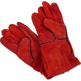 Перчатки замшевые с крагой и подкладом фото - купить