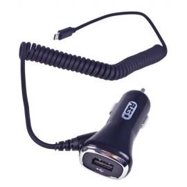 Автомобільний зарядний пристрій PULSO C-2407BK 1USB+Android (12 / 24V - 5V 2,4A)