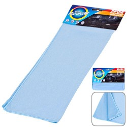Салфетка микрофибра 9846G д/стекла 40х30см/голубая
