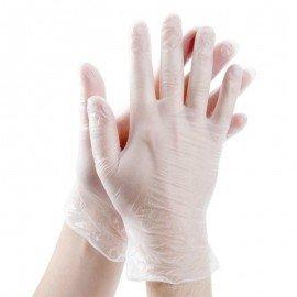 Перчатки виниловые опудренные XL 100шт / уп VP45-XL (10уп) фото - купить
