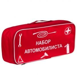 Сумка тех. помощи Набор автомобилиста (красная) 46х20х14см фото - купить