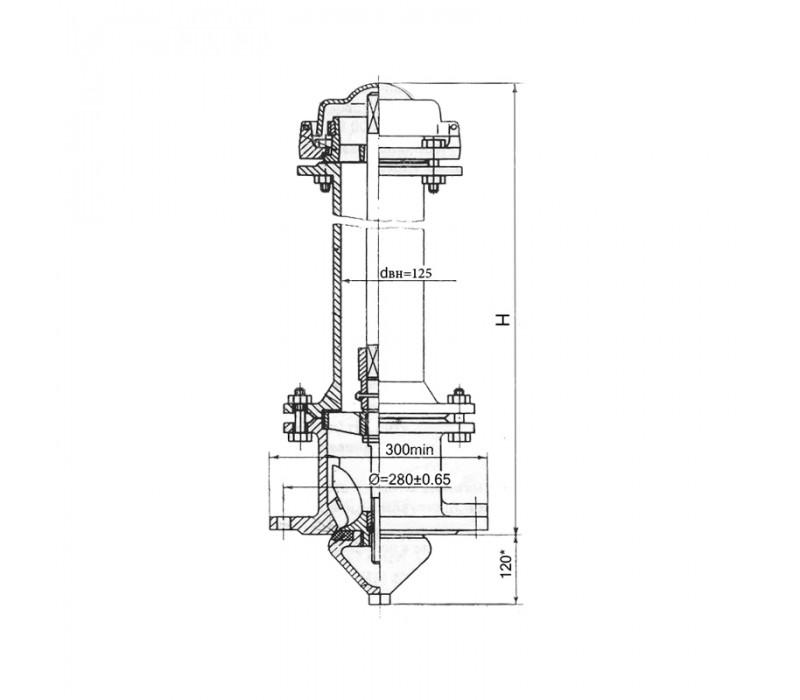 Гидрант пожарный подземный Н-1,50м фото - купить