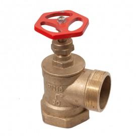 Вентиль пожарный латунный угловой Ду50 ВН фото - купить