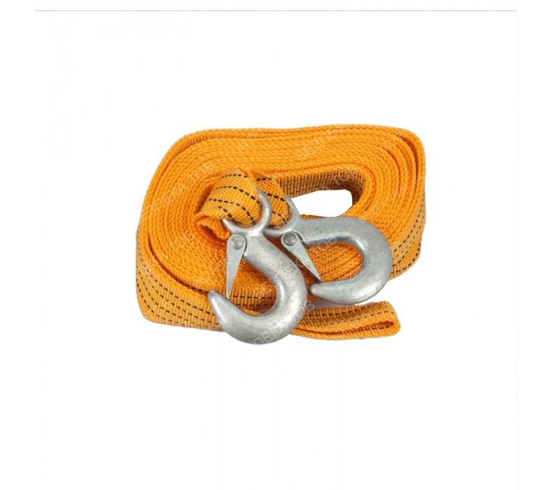 Трос буксир ST205B/TP-207-3-1 3т лента 46мм х 6м желтый/крюк/кулек фото - купить