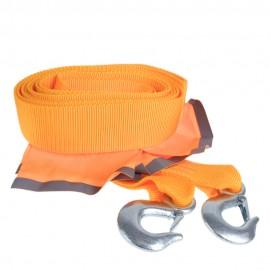 Трос буксир ТР-250-6-3 6т лента 60мм х 5м оранж/2крюка/флажки/сумка фото - купить