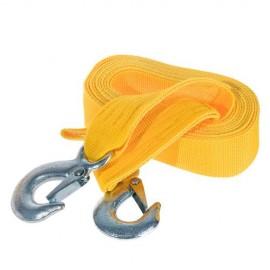 Трос буксир ТРШ-245-3-1 3т лента 46мм х 4,5м желтый/крюк/кулек фото - купить