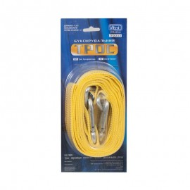 Трос буксир ST1004/ТР-202-3-2 3т лента 47мм х 4,5м желтый/карабин/блистер фото - купить