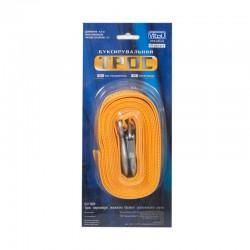 Трос буксир ST205 C/ТР-203-2-1  2т лента 46мм х 4,5м  желтый/крюк/блистер