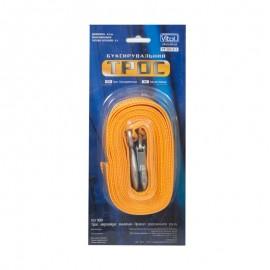 Трос буксир ST205 C/ТР-203-2-1 2т лента 46мм х 4,5м желтый/крюк/блистер фото - купить