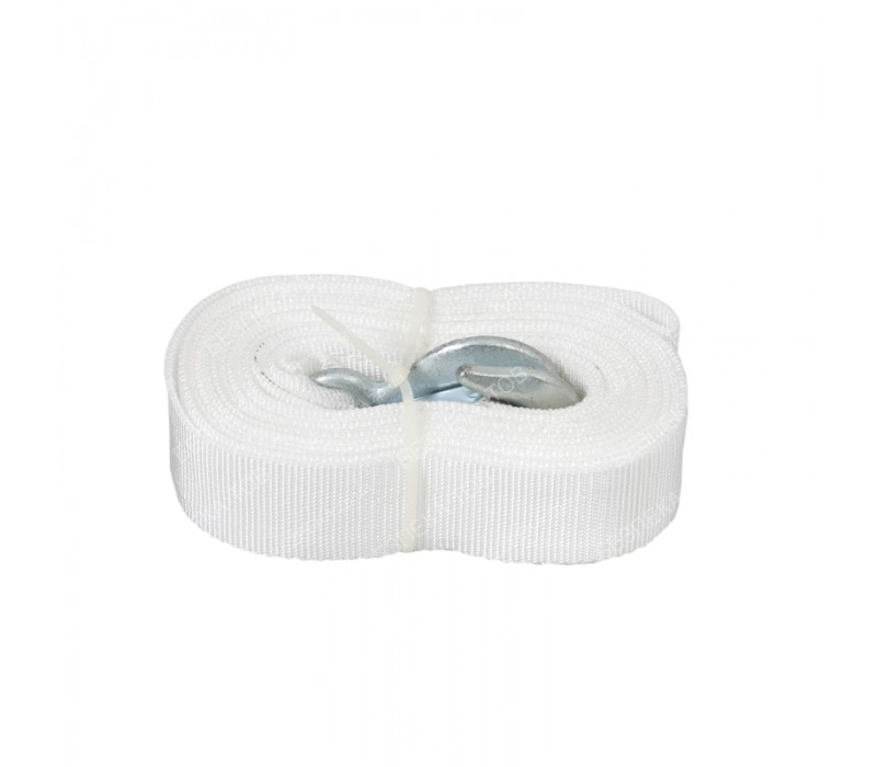 Трос буксир ST206-E 5т. лента 50мм х 5,0м белый/2 крюка фото - купить