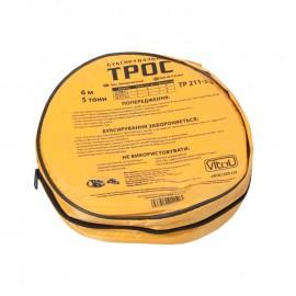 Трос буксир ST206B/TP-211-5-0 5т стрічка 50мм х 6м оранж/1 гак/сумка