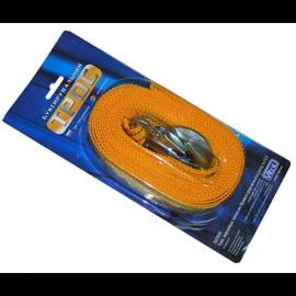Трос буксир ST205/TP-205-3-1 3т лента 46мм х 4,5м желтый/крюк/блистер фото - купить