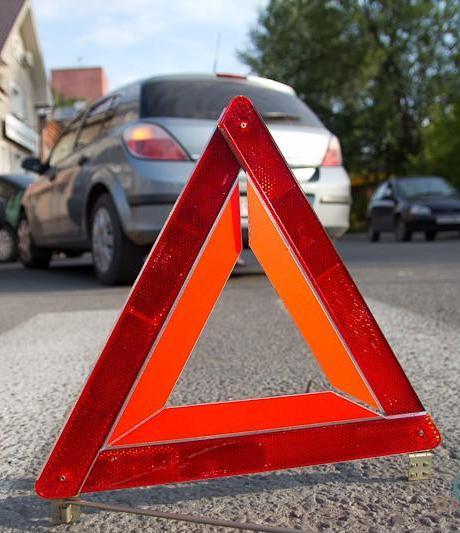 установка знака аварийной остановки